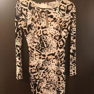 Cheetah print Jennifer Lopez dress